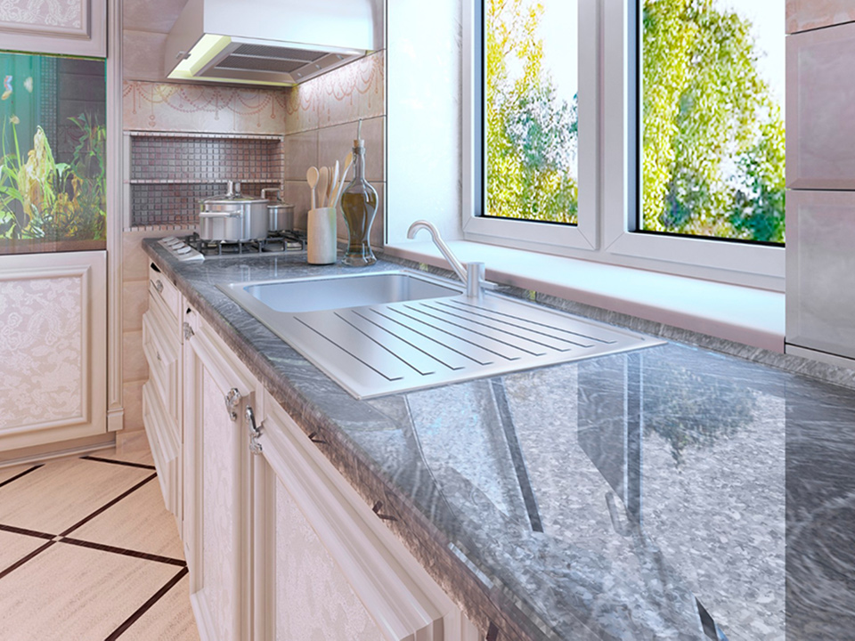 Granite Kitchen Counter with Sink